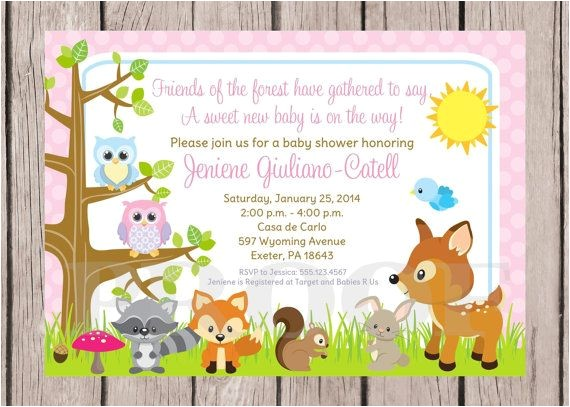 post woodland forest animals printable baby shower