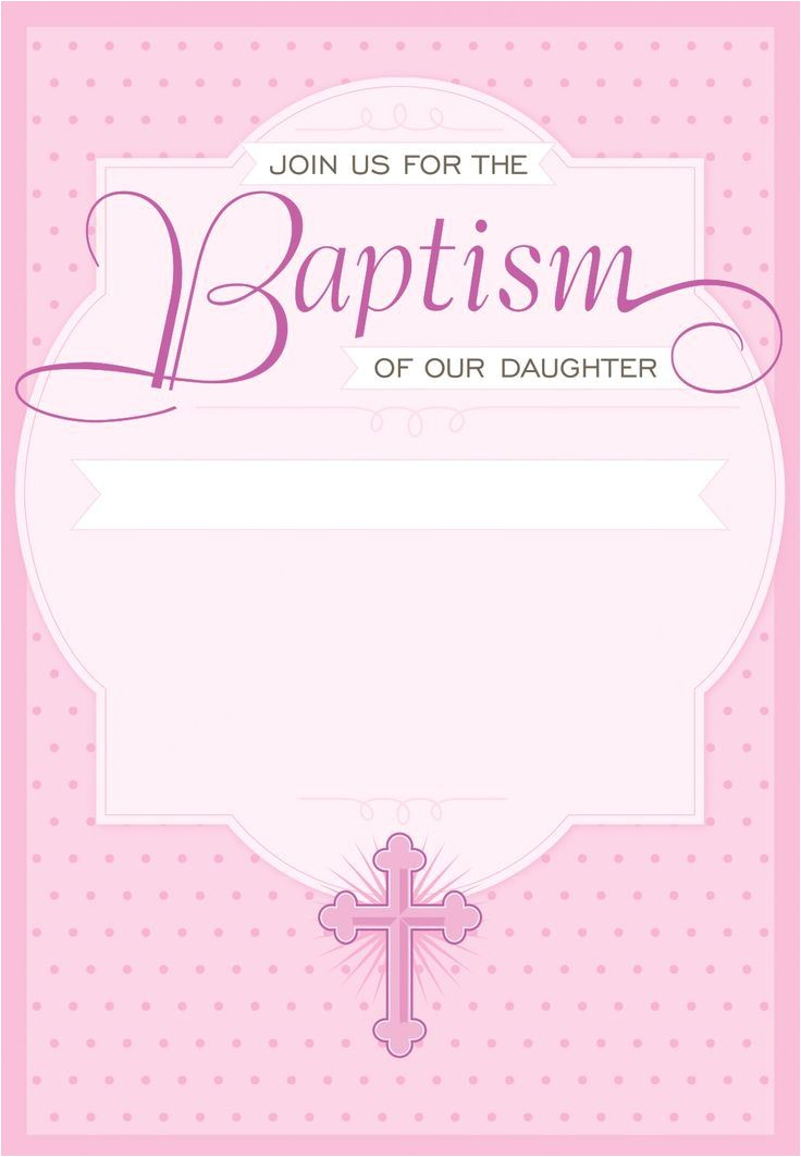 baptism invitation template for baby girl free 2