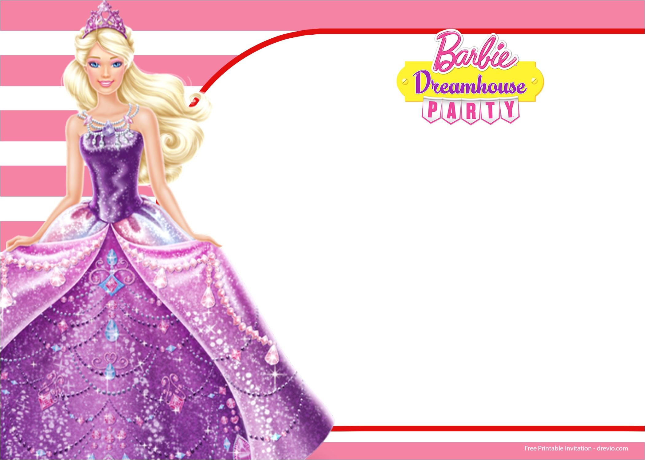 free barbie birthday invitation templates