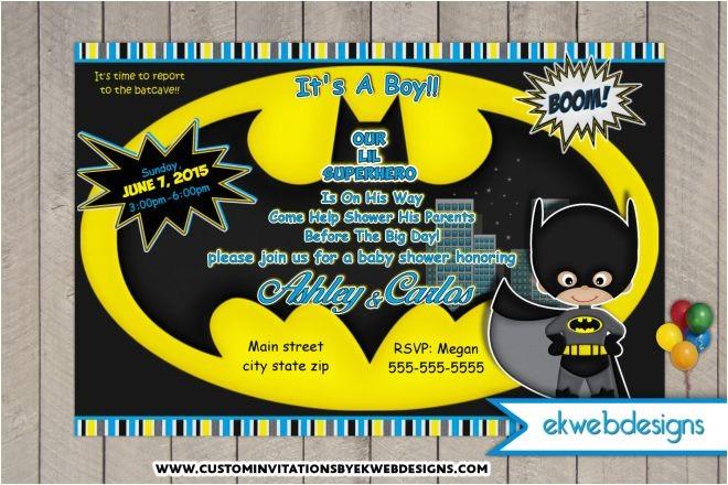 batman baby shower invitations custom superhero baby shower invites