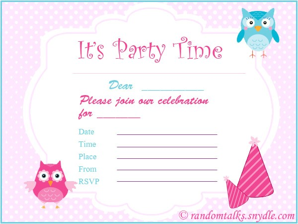 free printable birthday invitations