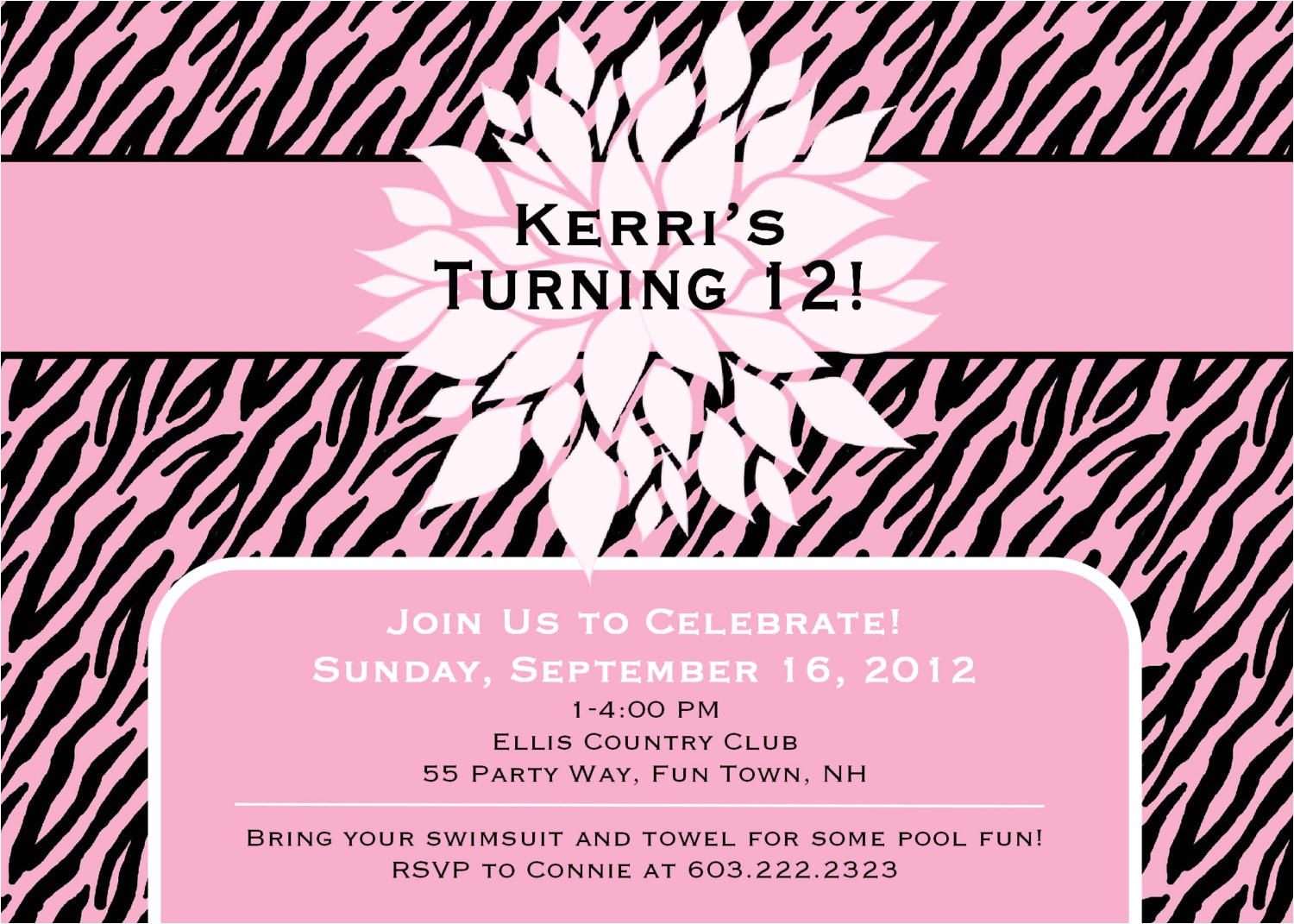 printable birthday invitation cards for teenage girls