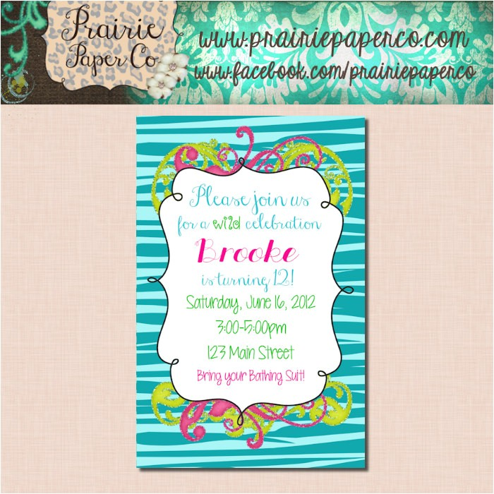 free printable birthday invitations for tween girls