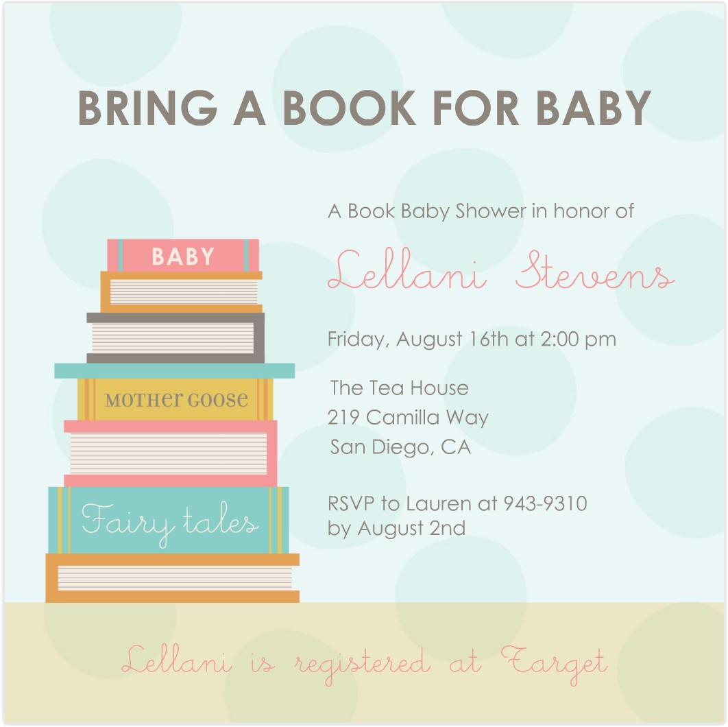 book themed baaby shower invitation