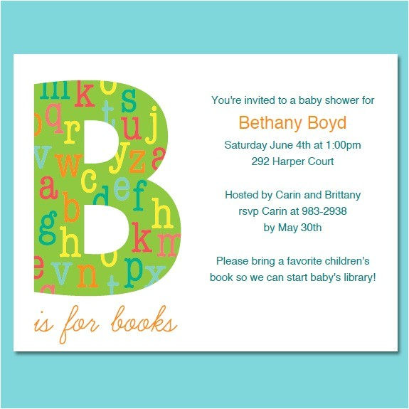 book themed baby shower invitations template