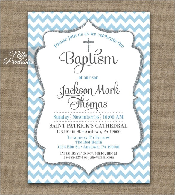 christening invitation template