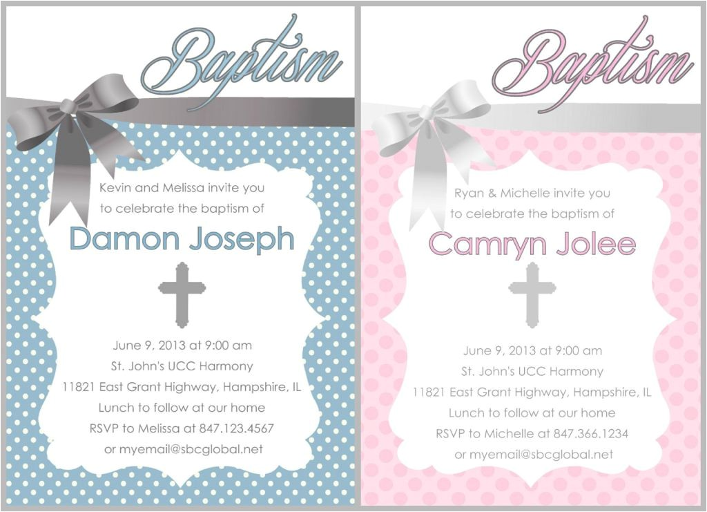 free baptism invitations