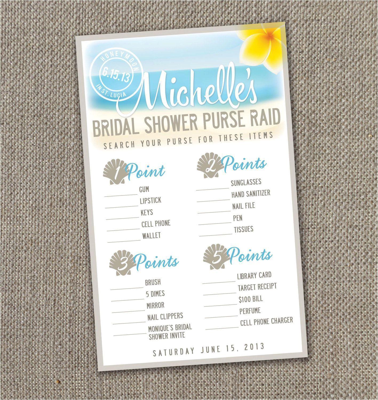 beach themed bridal shower invitation 2