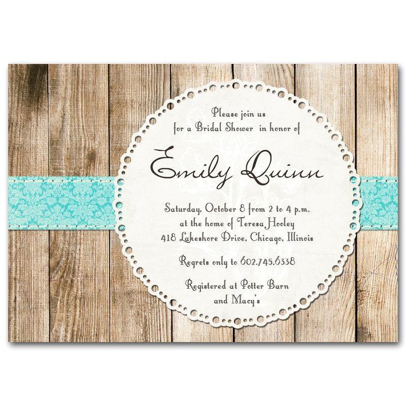bridal shower invitation rustic vintage gender neutral baby shower invite printable digital diy wooden