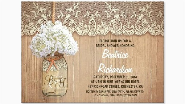 rustic bridal shower invitations template