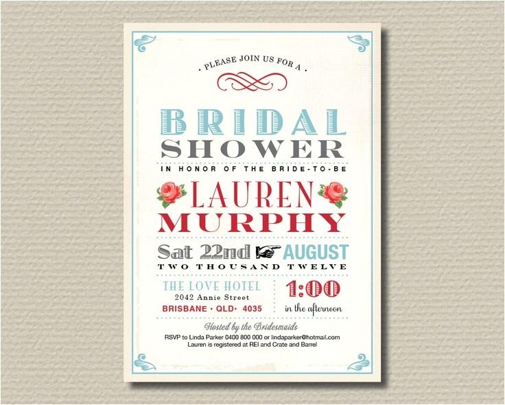 free printable vintage bridal shower