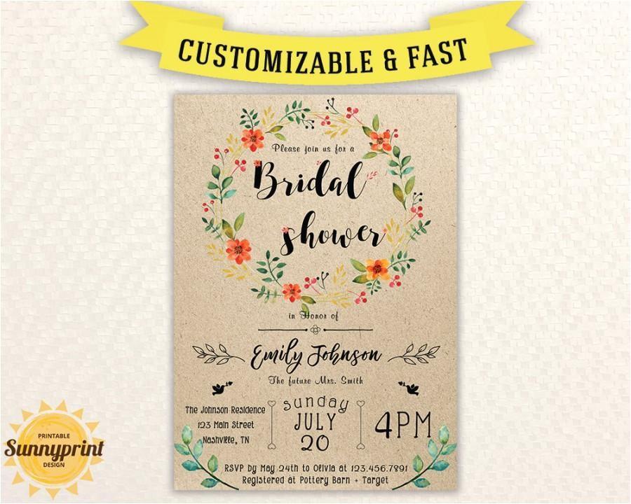 bridal shower invites bridal shower vintage bridal shower invitation printable printable bridal shower invitation template rustic