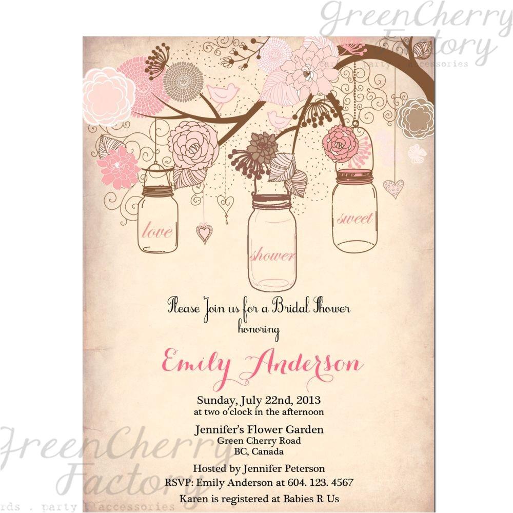Free Printable Bridal Shower Invitations Vintage Vintage Bridal Shower Invitation Templates Free