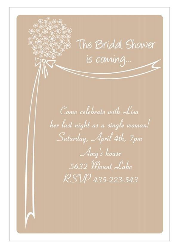 bridal shower template