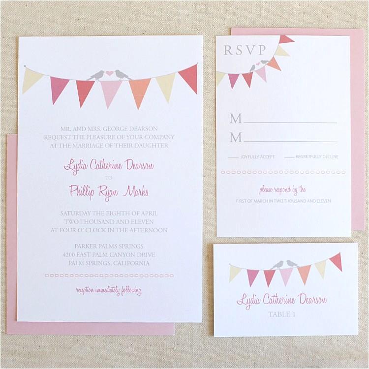 wedding chicks free printable sweet bunting wedding invitation 16