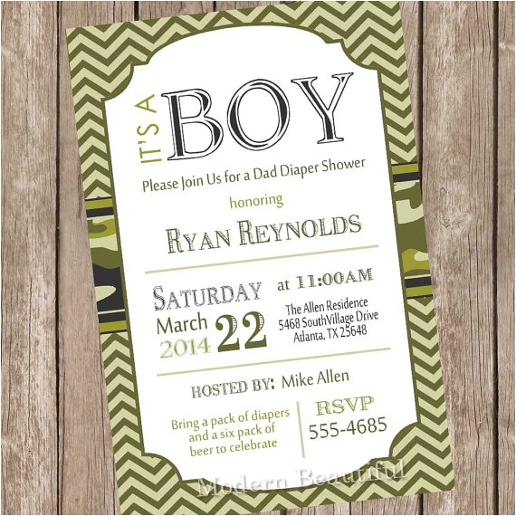 camo baby shower invitation army baby 3