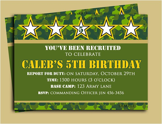 camouflage birthday invitation printable camo collection