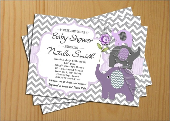 chevron baby shower invitation girl boy invites free thank you card included printable