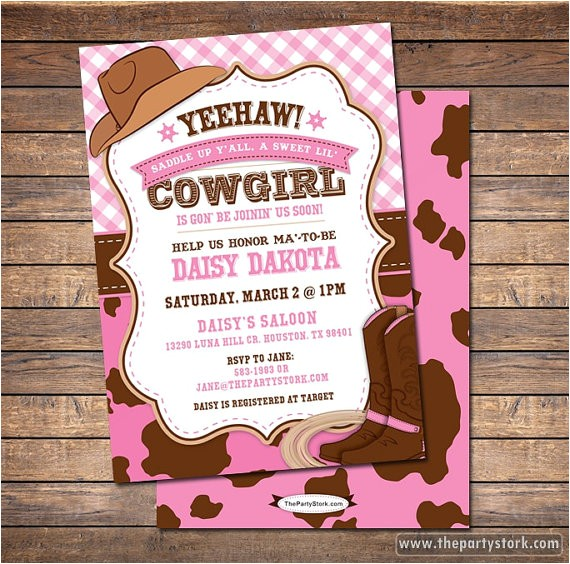 post western party invitations printable