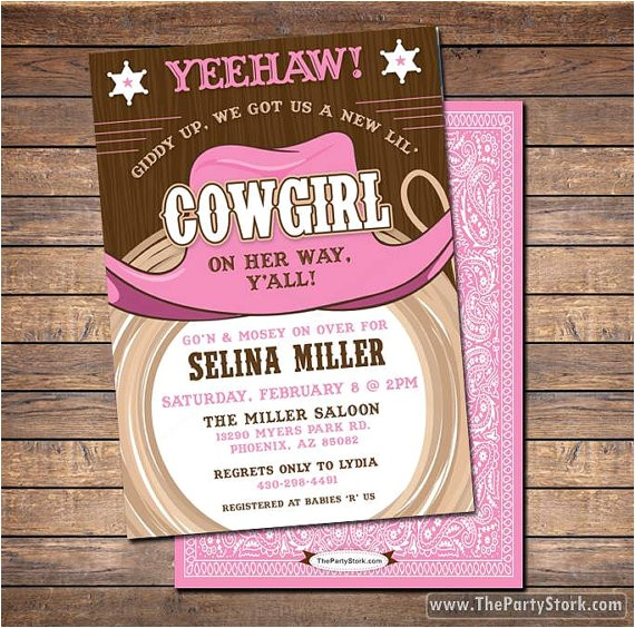 cowgirl baby shower invitations printable shower