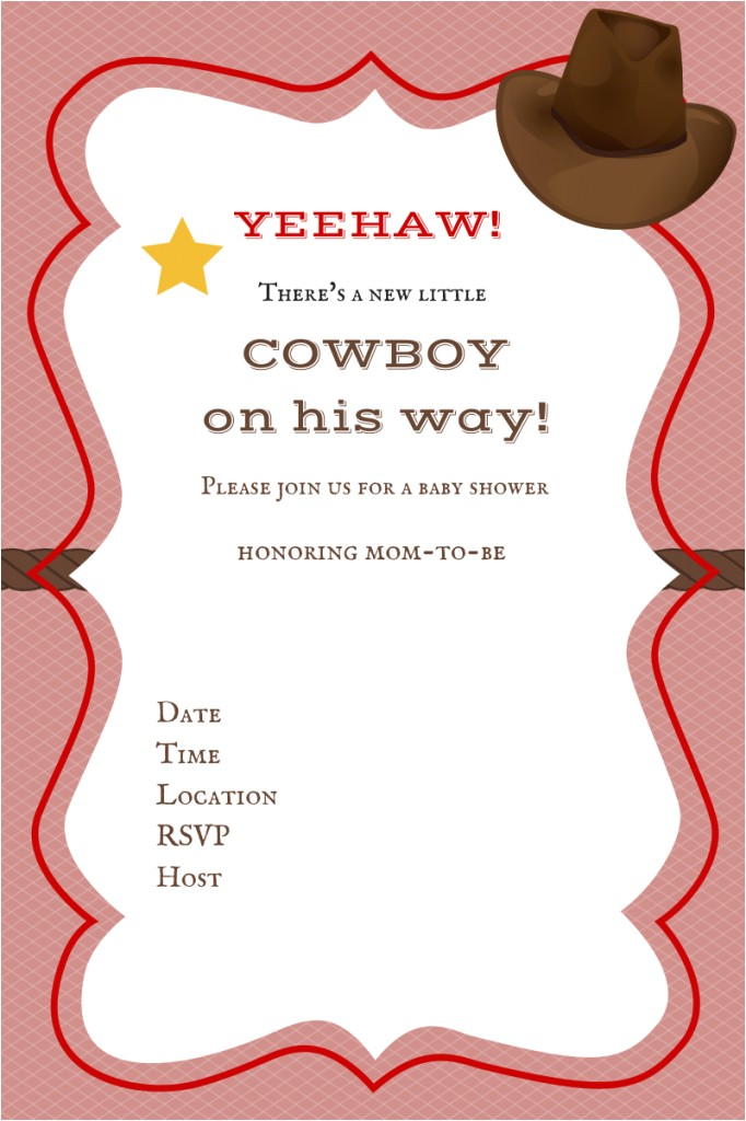 Free Printable Cowgirl Baby Shower Invitations Free Printable Baby Shower Invitations Baby Shower Ideas