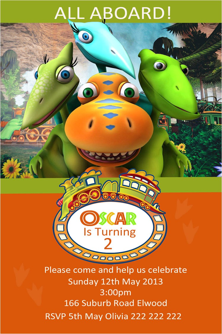 dinosaur train photo birthday invitation