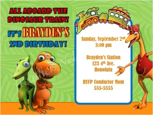 dinosuar train invitation