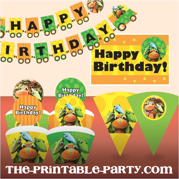 printable dinosaur train birthday party decor