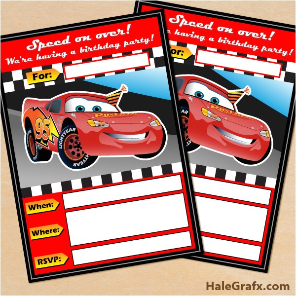 Free Printable Disney Cars Birthday Party Invitations Free Printable Disney Cars Lightning Mcqueen Birthday