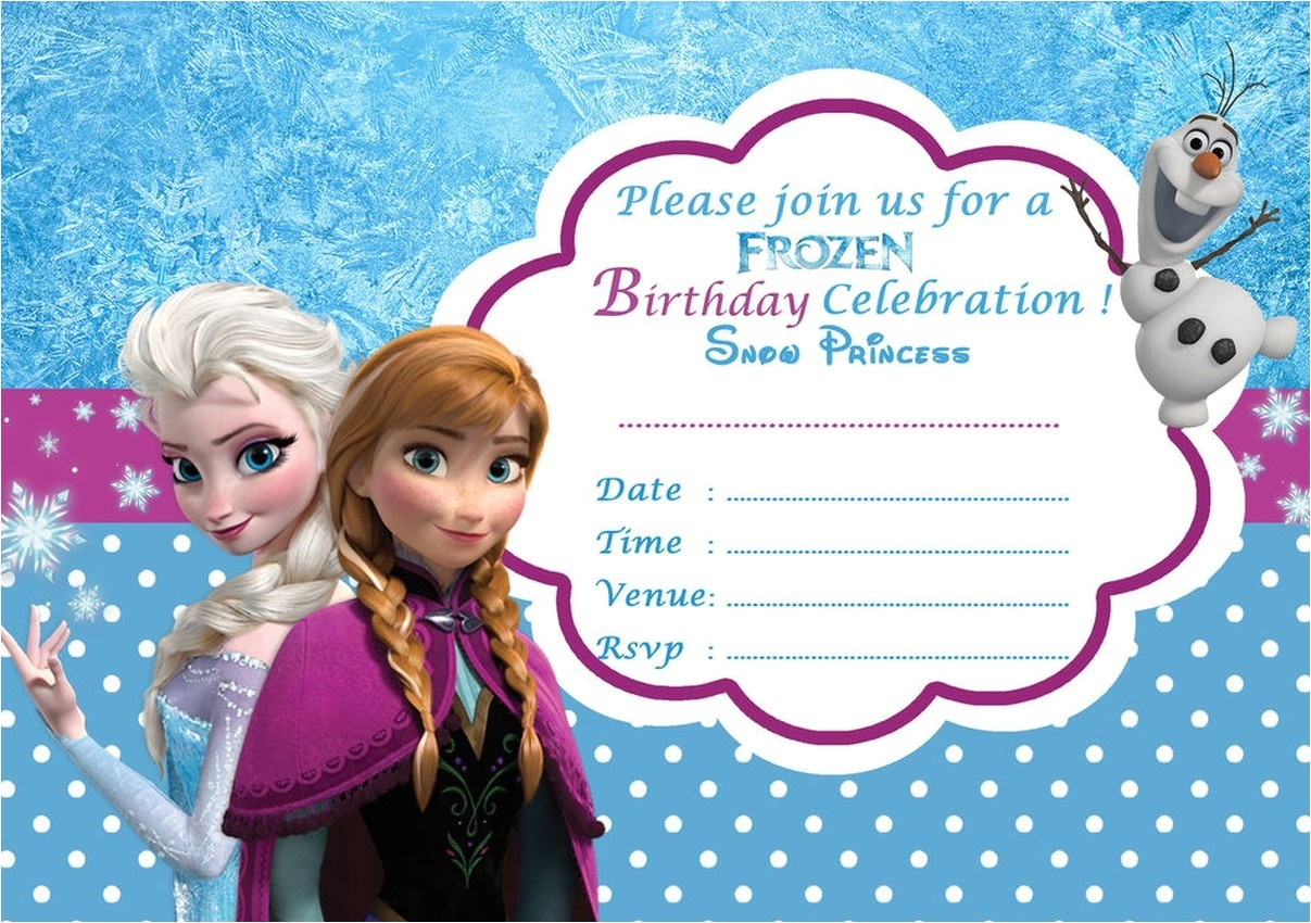disney frozen birthday party invitation template