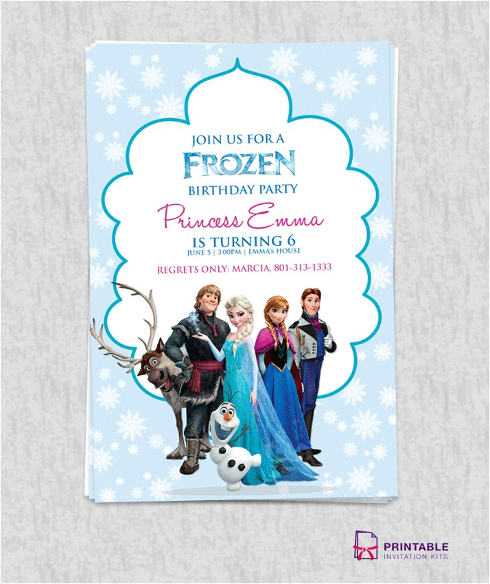 free frozen birthday invitation template