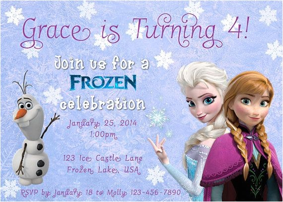 free printable disney frozen birthday invitations