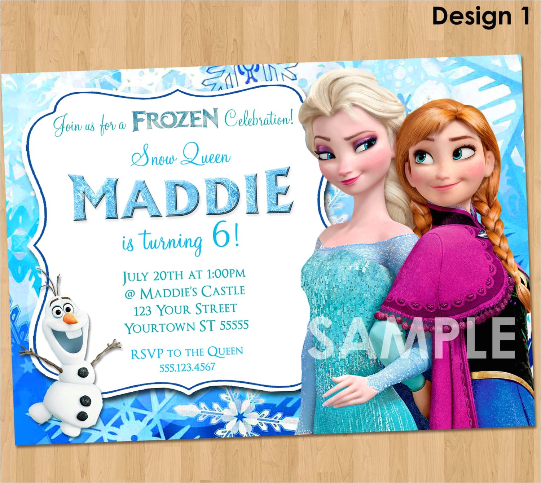 frozen invitation frozen birthday