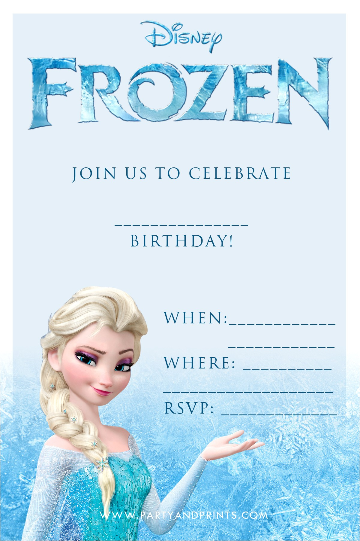 Free Printable Disney Frozen Birthday Party Invitations 20 Frozen Birthday Party Ideas