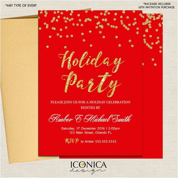 christmas cards holiday party invitations elegant 4