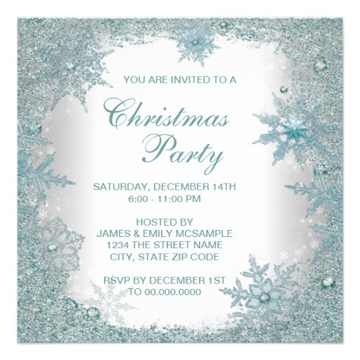 elegant christmas party invitation word