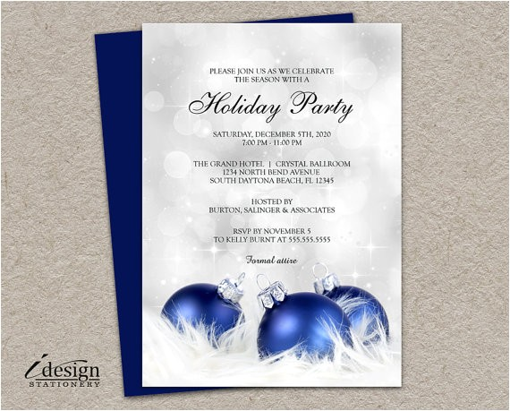 elegant holiday party invitation diy