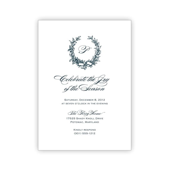 printable elegant holiday party