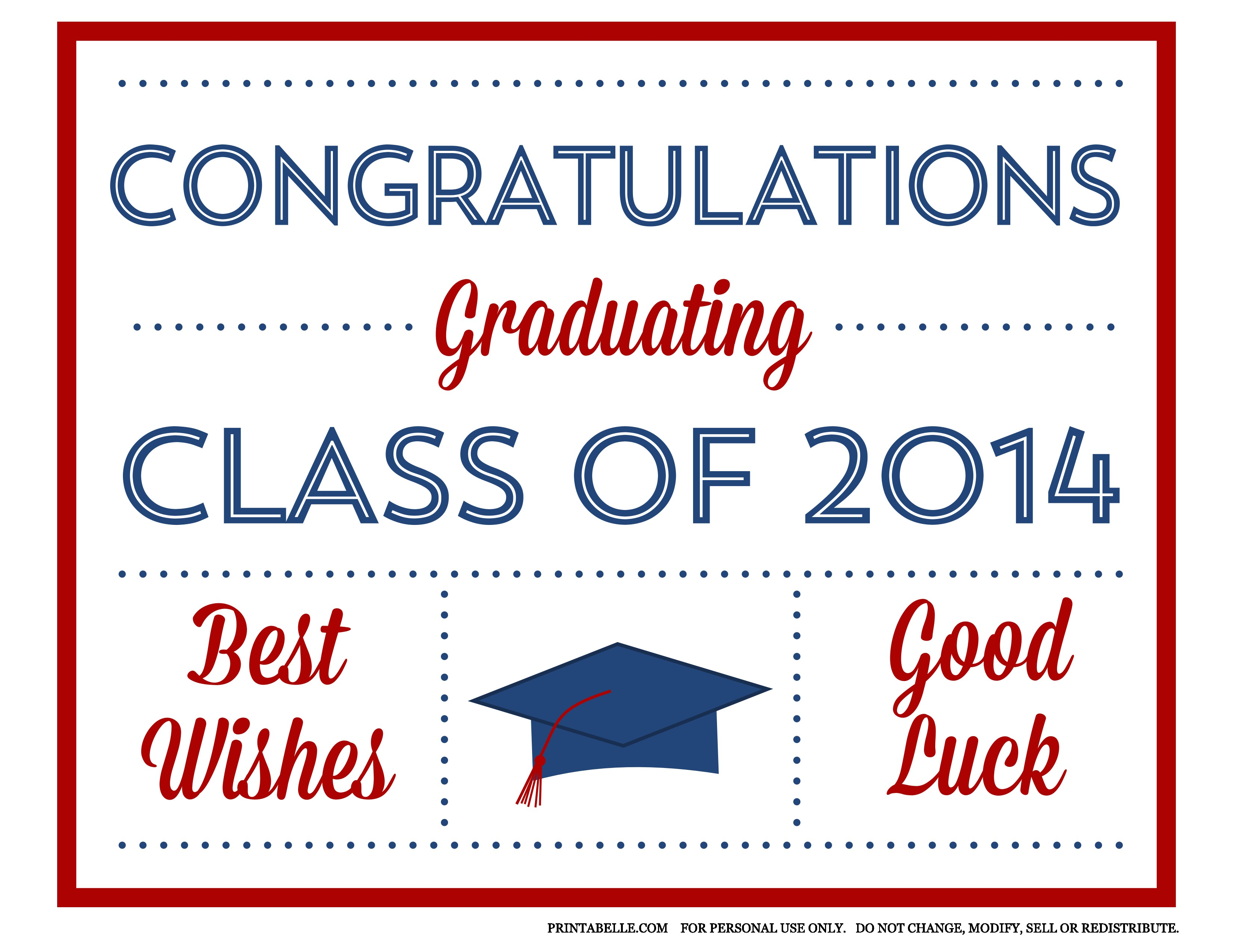 free 2014 graduation printables from printabelle