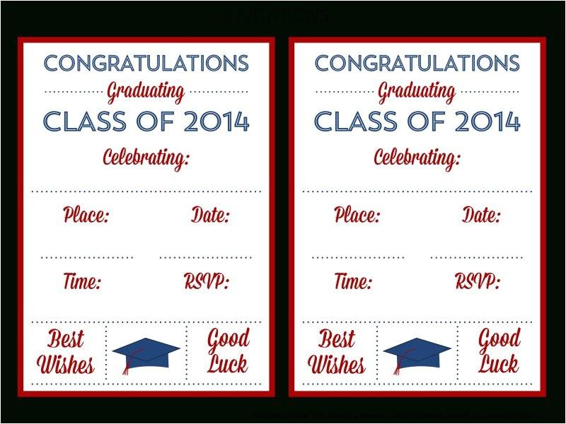 free printable graduation invitations 2014