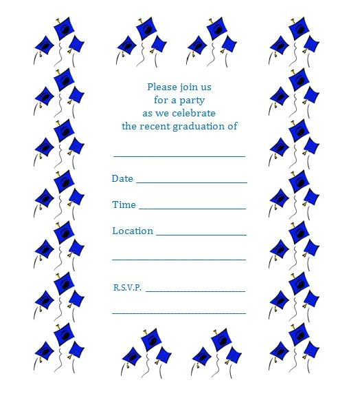 free printable graduation party invite