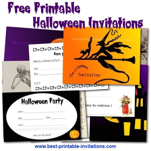 post halloween party printable birthday invitations