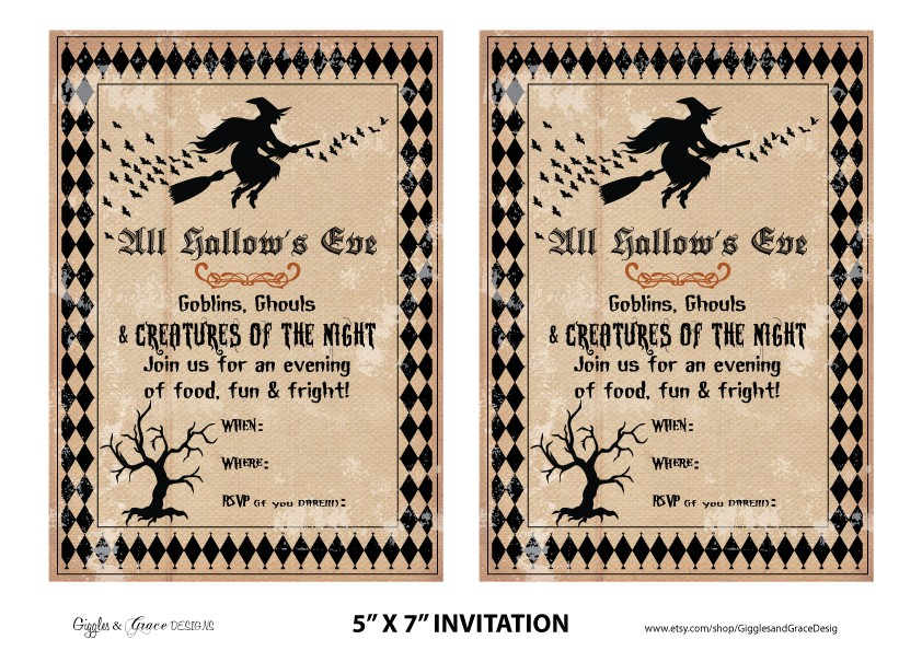 free halloween party printables from giggles grace designs