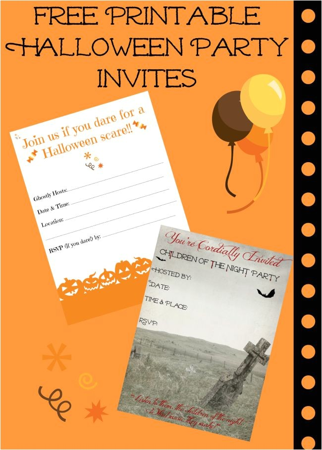 free printable halloween invitations super spooktacular parties
