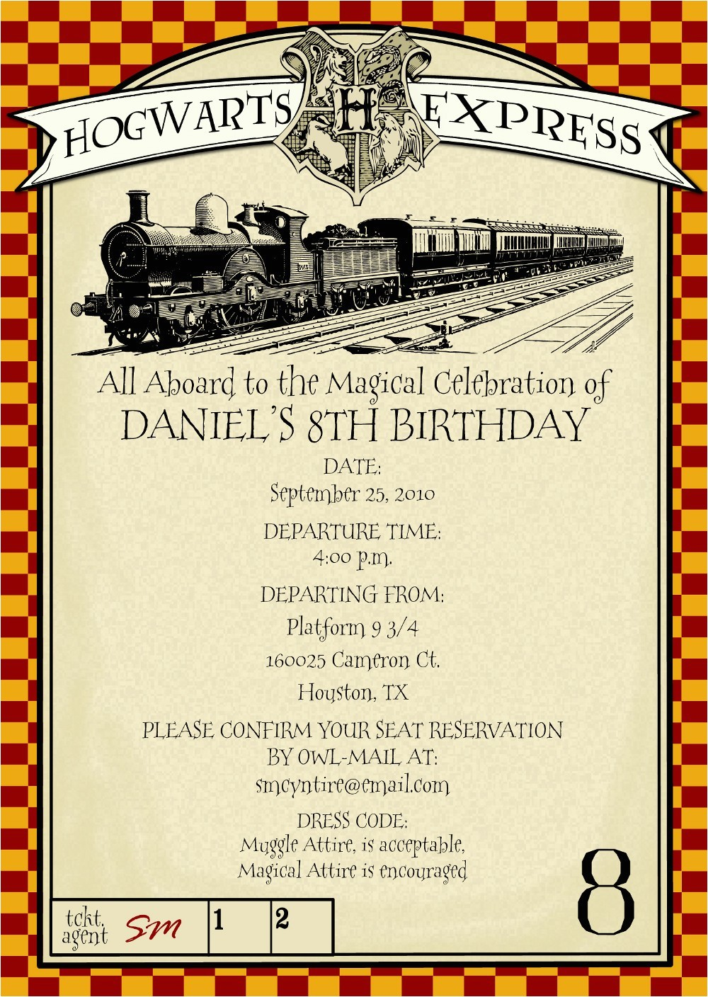 top 18 harry potter birthday party invitations