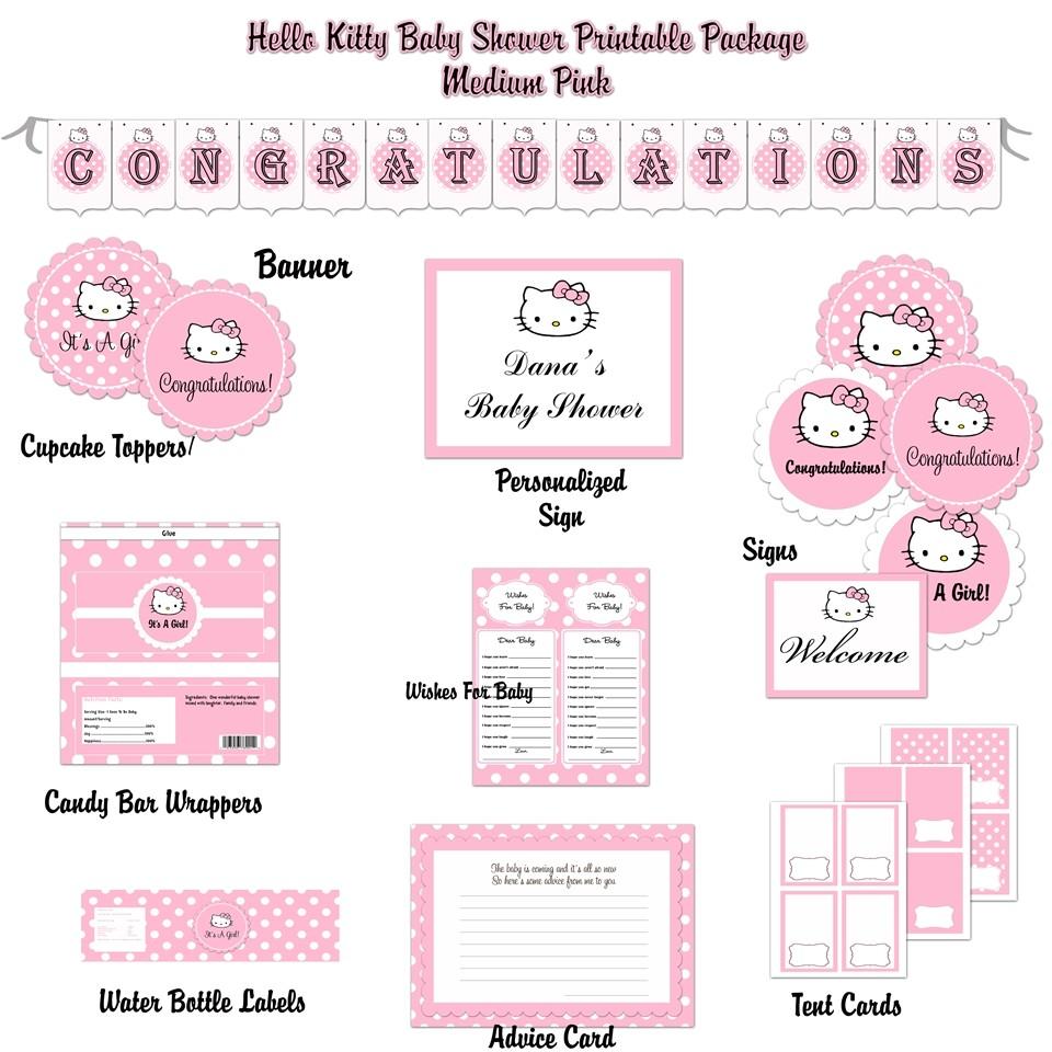 hello kitty baby shower invitations printabletml