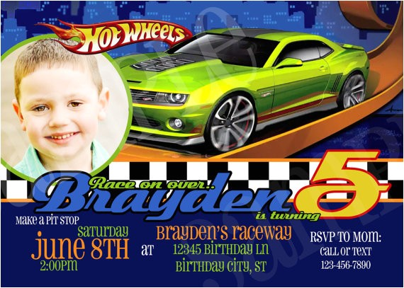 hot wheels birthday invitation printable