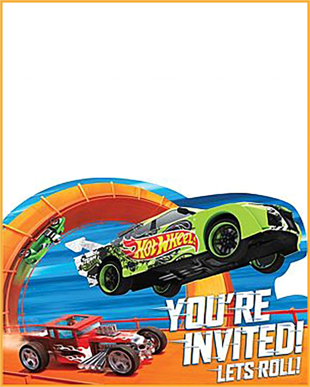 free printable hot wheels invitation templates