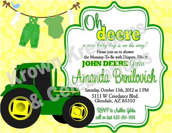 john deere baby shower invitations template