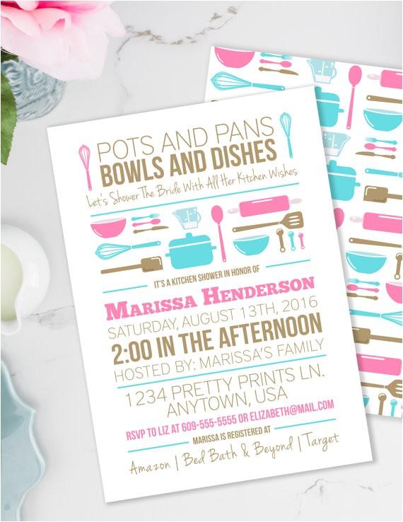 stock kitchen bridal shower invitation house